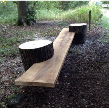 Ławka drewniana do ogrodu