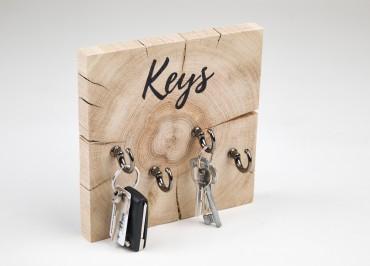 Dębowy wieszak na klucze