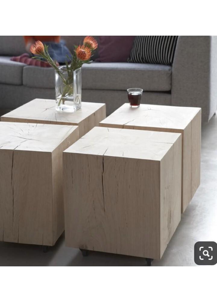 Stoliki drewniane kawowe do salonu, z kawałka drewna